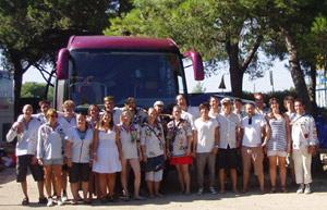 Gruppfoto i Spanien
