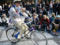 Käck på cykel